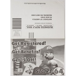 N64 registration card