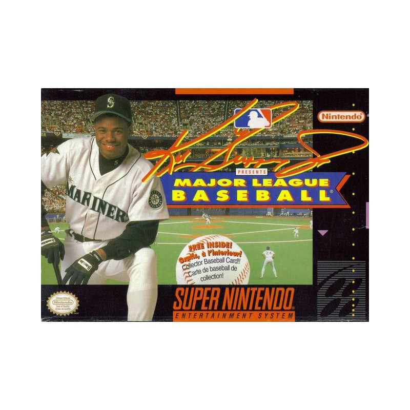 c5c88bb410 Ken Griffey Jr. Presents Major League Baseball (Super Nintendo SNES, 1994)  ...