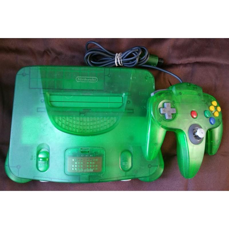 FUNTASTIC JUNGLE GREEN CONSOLE Nintendo 64 N64 System ...