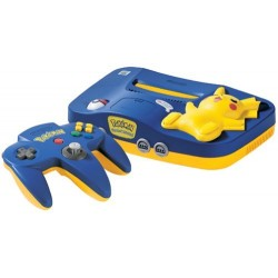 Pikachu Nintendo 64 Pokemon Blue & Yellow N64 (NUS-101 NTSC)