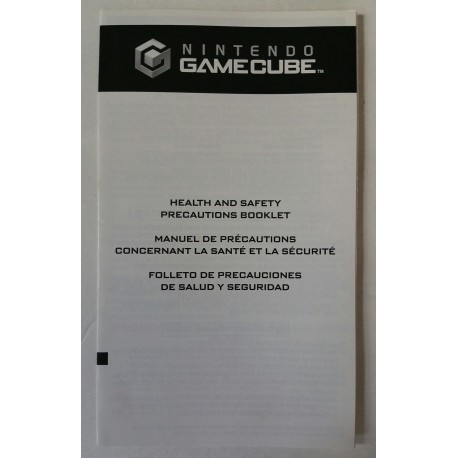 Nintendo Gamecube health and safety booklet 45749E