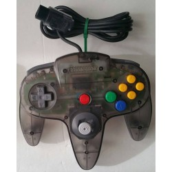 Official Nintendo 64 Controller Clear Black Smoke