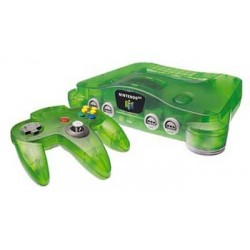 FUNTASTIC JUNGLE GREEN CONSOLE Nintendo 64 N64 System