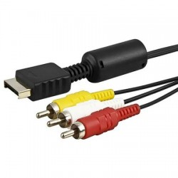 Official Sony Playstation 1/2/3 Composite AV Cable