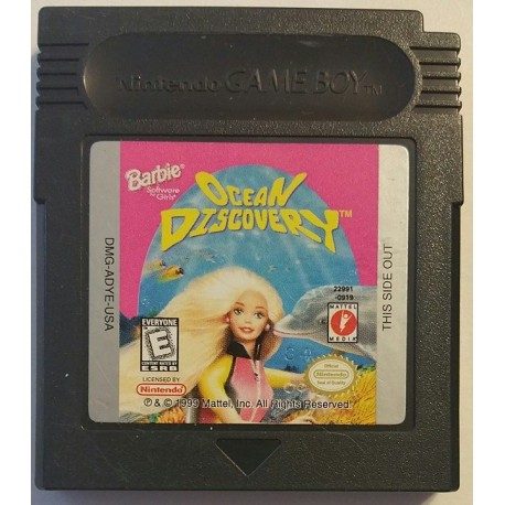 Barbie: Ocean Discovery (Nintendo Game Boy Color, 1999)