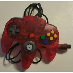 Official Nintendo 64 Controller Clear Watermelon Red