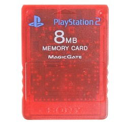 Official Sony 8MB Red Memory Card for PlayStation 2