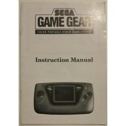 Sega Game Gear Manual
