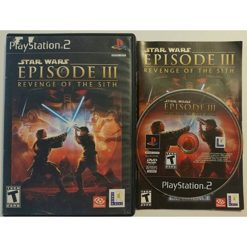 Star Wars Episode Iii Revenge Of The Sith Playstation 2 2005 Game Igloo