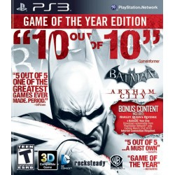 Batman Arkham City: Game of The Year (Sony Playstation 3, 2011)