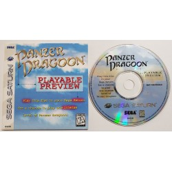 Panzer Dragoon (Sega Saturn, 1995) PLAYABLE PREVIEW DISK