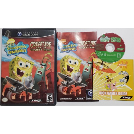 Spongebob Squarepants Creature From The Krusty Krab Nintendo Gamecube